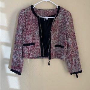 H&M tweed blazer/cardigan jacket